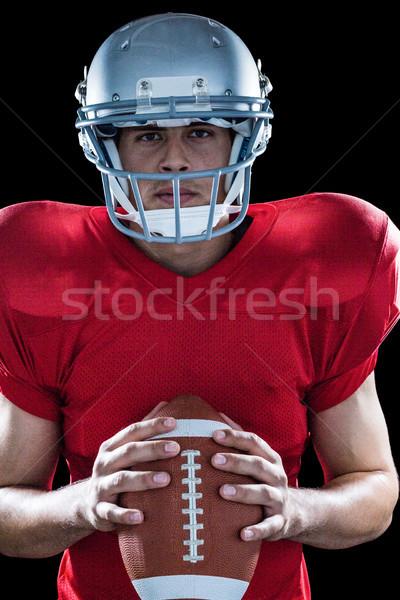 Portret vastbesloten amerikaanse voetbal permanente Stockfoto © wavebreak_media