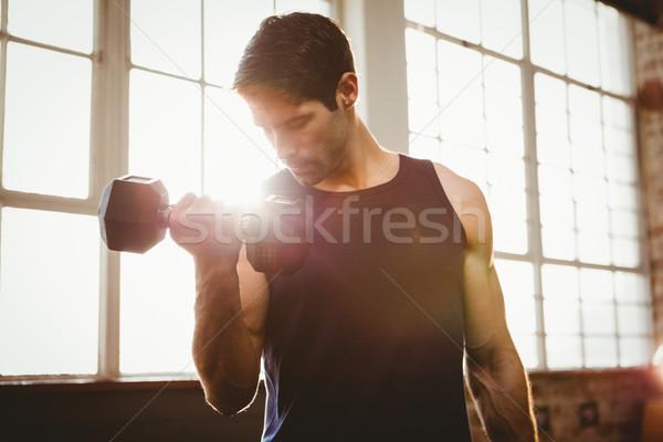 Homem bonito ginásio homem fitness Foto stock © wavebreak_media