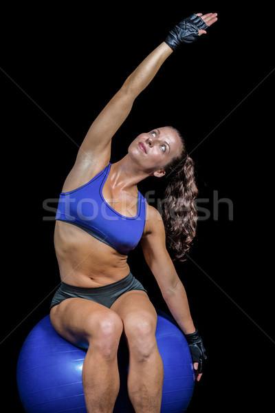 Uygun atlet eller siyah kadın Stok fotoğraf © wavebreak_media