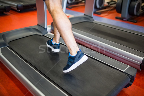 Man running on a treadmill Stock photo © wavebreak_media