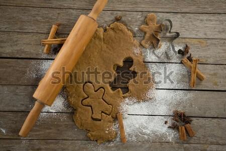 Mantequilla papel harina rodillo cookie huevos Foto stock © wavebreak_media