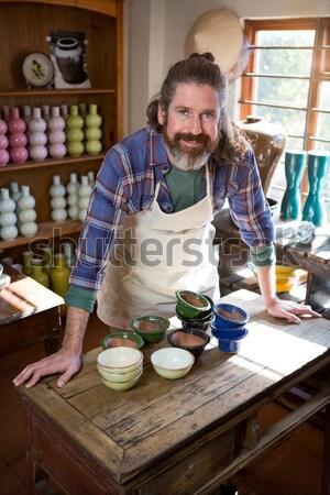 Mannelijke schilderij kom aardewerk workshop portret Stockfoto © wavebreak_media