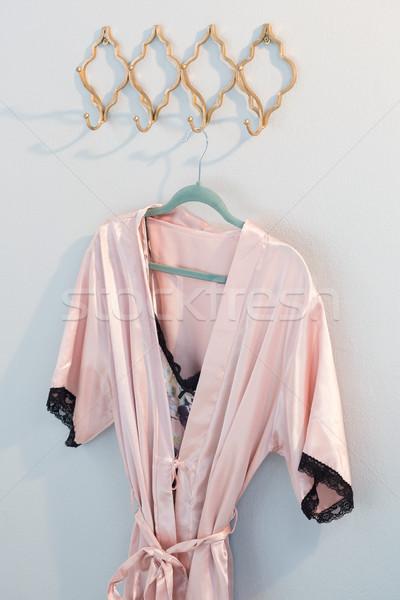 絞首刑 フック 白 壁 ファブリック ドレス ストックフォト © wavebreak_media