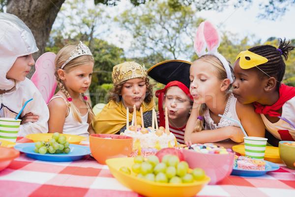 Cute dzieci wraz Świeca urodziny Zdjęcia stock © wavebreak_media
