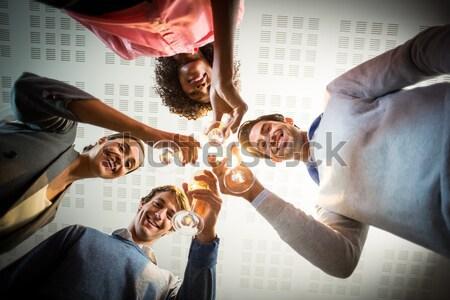 Portret zakenlieden wijnglazen kantoor business Stockfoto © wavebreak_media