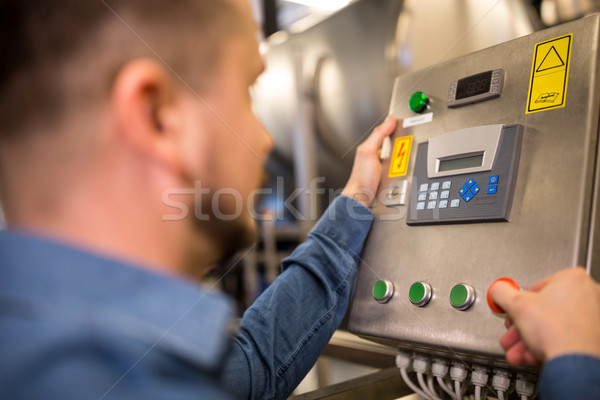 Maintained worker operating control machine Stock photo © wavebreak_media