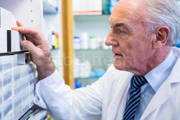 Farmaceuta człowiek lekarza medycznych zdrowia muzyka Zdjęcia stock © wavebreak_media