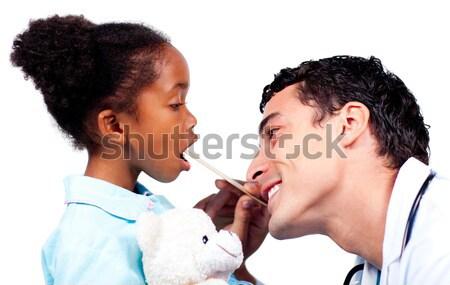 Stock fotó: Apa · fia · együtt · fürdőszoba · otthon · férfi · gyermek