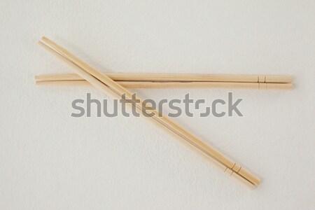 Pędzlem biały drewna edukacji tabeli Zdjęcia stock © wavebreak_media