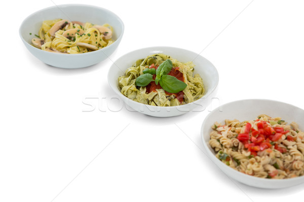 High angle view of pastas served in containers Stock photo © wavebreak_media