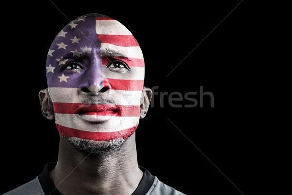 Imagen EUA rugby jugador negro Foto stock © wavebreak_media
