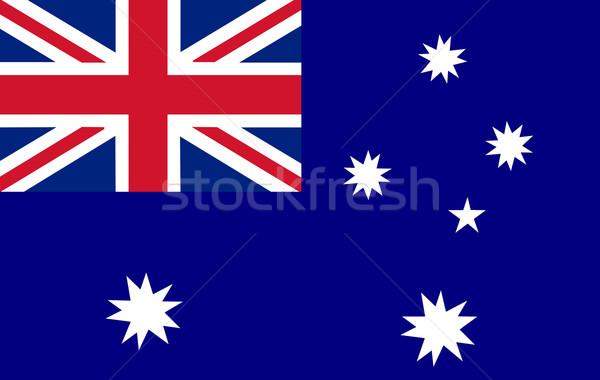 Australisch vlag teken Blauw land grafische Stockfoto © wavebreak_media