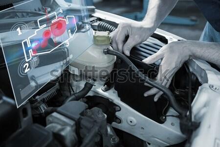 Woman putting on the indicator Stock photo © wavebreak_media