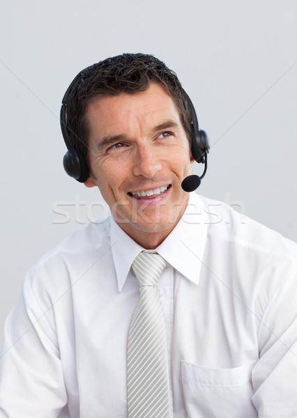 Lächelnd reifer Mann arbeiten Call Center Porträt Business Stock foto © wavebreak_media