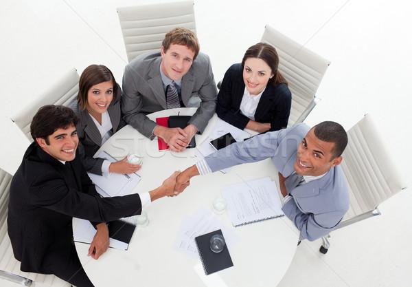 Internatonal Business people closing a deal Stock photo © wavebreak_media