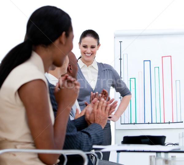 Wesoły zespół firmy spotkanie firmy kobieta Zdjęcia stock © wavebreak_media