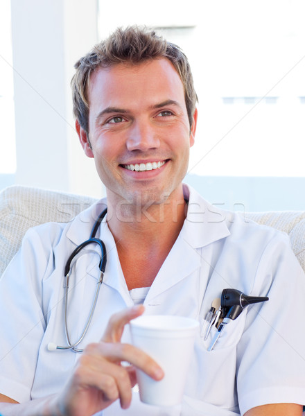 Charismatic doctor having a break Stock photo © wavebreak_media