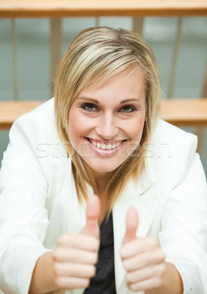 Işkadını ofis kadın mutlu genç Stok fotoğraf © wavebreak_media