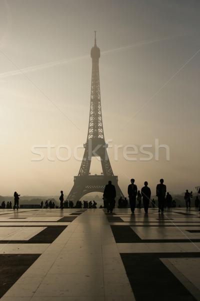 Stok fotoğraf: Eyfel · Kulesi · seyahat · Retro · çelik · tatil · tatil