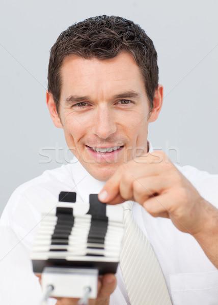 Sorridere imprenditore consulenza carta ufficio libro Foto d'archivio © wavebreak_media