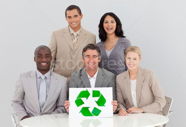 Business team vergadering goede milieu kantoor business Stockfoto © wavebreak_media