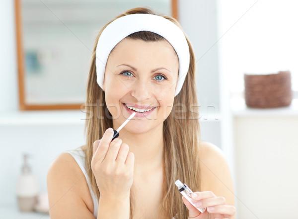 Stockfoto: Vrouw · glans · lippen