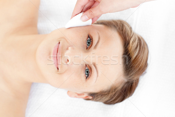 Attractive young woman receiving a beauty treatment in a spa center Stock photo © wavebreak_media