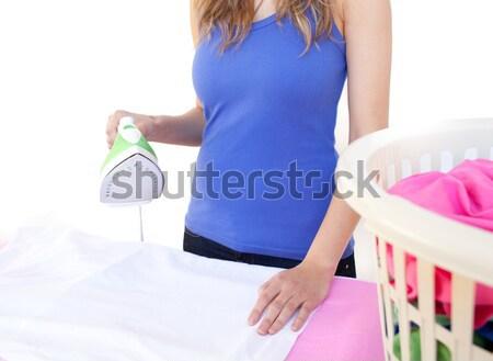 Zwangere vrouw baby doek echtgenoot Stockfoto © wavebreak_media