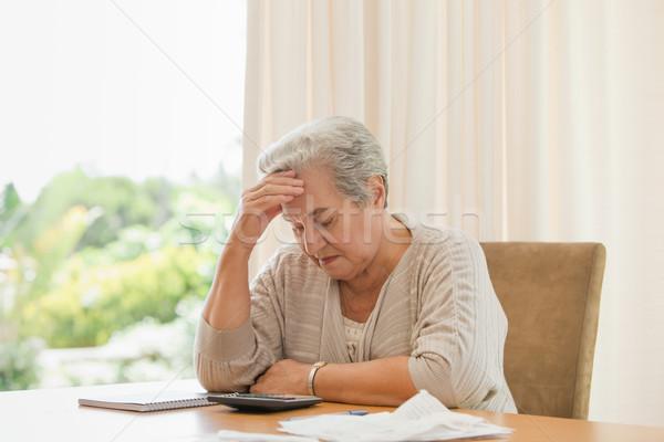Aposentados mulher doméstico cara trabalhar Foto stock © wavebreak_media