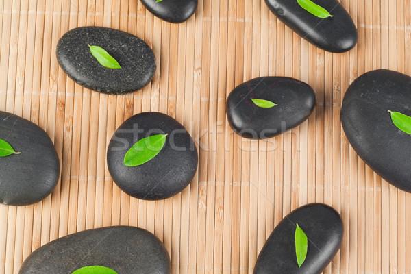 Hojas negro piedras naturaleza hoja fondo Foto stock © wavebreak_media