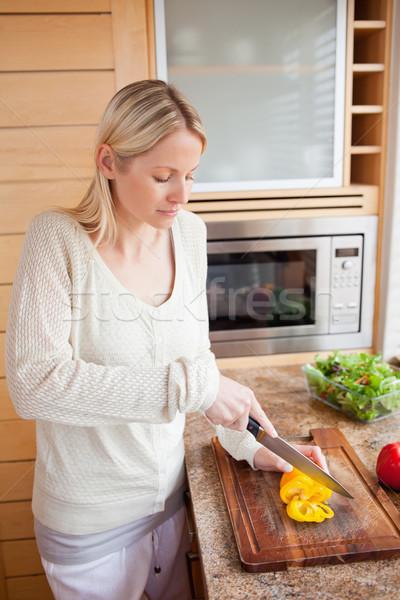 Vista lateral hortalizas cocina cena Foto stock © wavebreak_media
