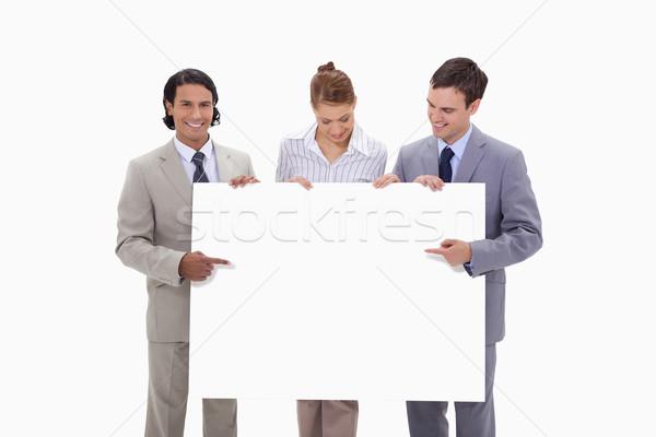 Wijzend handen witte achtergrond Stockfoto © wavebreak_media
