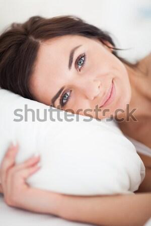 Shot vrouw bed hoofd kussen Stockfoto © wavebreak_media