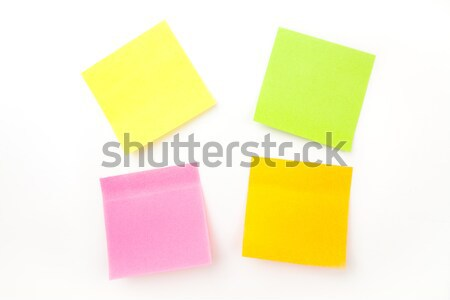 Beaucoup adhésif note blanche orange écrit Photo stock © wavebreak_media