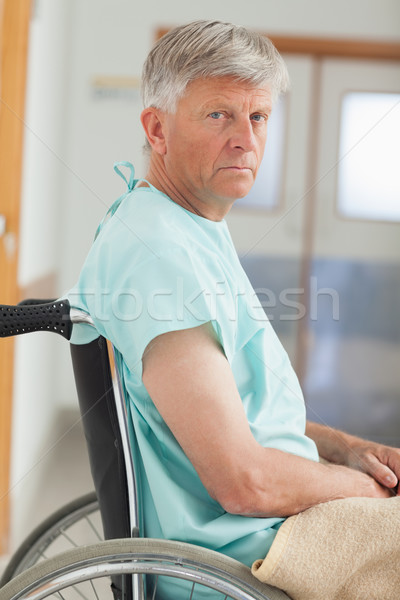Close up of a man in a wheelchair in hospital  Stock photo © wavebreak_media