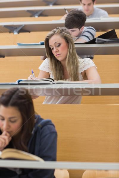 Öğrenciler oturma ders salon yazı Stok fotoğraf © wavebreak_media