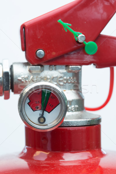 Close up of top of fire extinguisher with gauge Stock photo © wavebreak_media