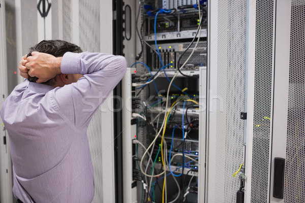 Technician feeling frustrated over servers Stock photo © wavebreak_media