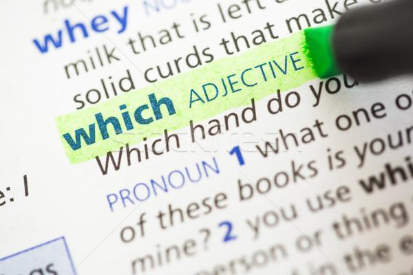 Definizione verde informazioni lettere studiare concetto Foto d'archivio © wavebreak_media