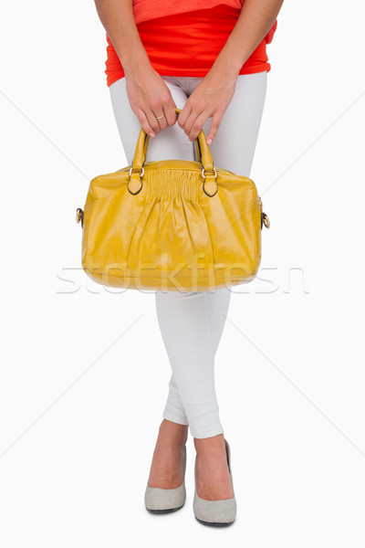 Donna giallo bag bianco Foto d'archivio © wavebreak_media