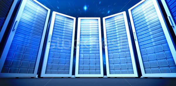 Composite image of server room Stock photo © wavebreak_media