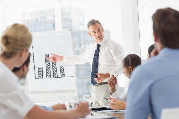 Senior Geschäftsmann Balkendiagramm Personal Büro Stock foto © wavebreak_media