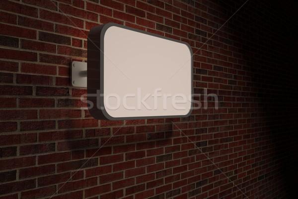 Signo pared de ladrillo poste indicador Foto stock © wavebreak_media