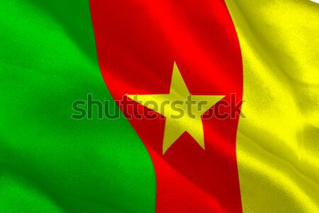 Kamerun banderą Belgia Zdjęcia stock © wavebreak_media