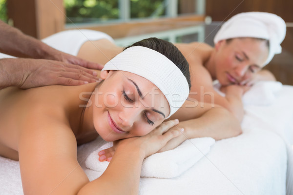 Pretty friends getting massages together Stock photo © wavebreak_media