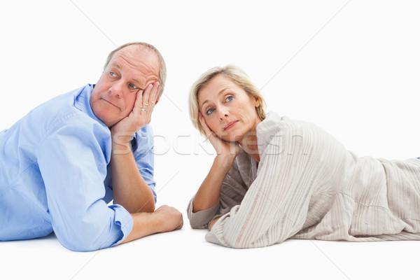 Mature couple lying and thinking Stock photo © wavebreak_media