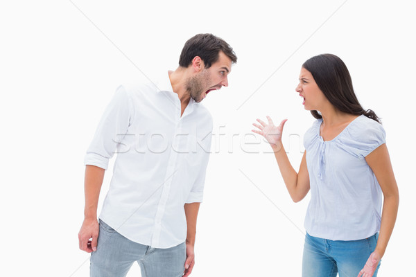 Angry couple shouting at each other Stock photo © wavebreak_media