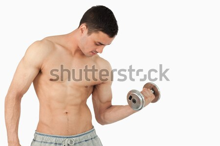 Muscular man kissing nutritional supplement Stock photo © wavebreak_media
