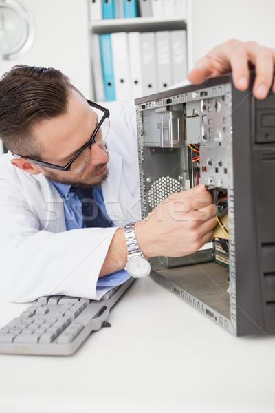 компьютер инженер рабочих сломанной утешить служба Сток-фото © wavebreak_media
