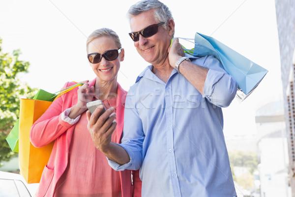 Feliz casal de idosos olhando Foto stock © wavebreak_media